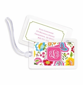 boatman geller bright floral bag tags