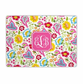 boatman geller bright floral cutting board