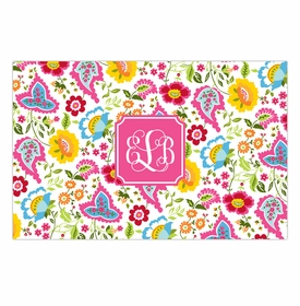 boatman geller bright floral disposable placemats