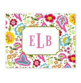 boatman geller bright floral foldover note cards
