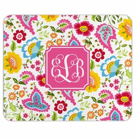 boatman geller bright floral mouse pad
