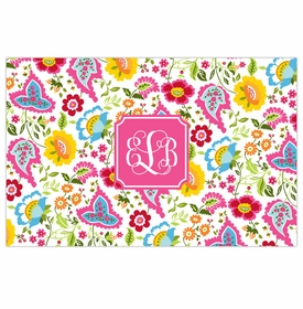 boatman geller bright floral placemat