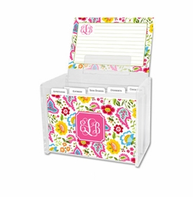 boatman geller bright floral recipe box