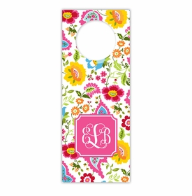 boatman geller bright floral wine tags