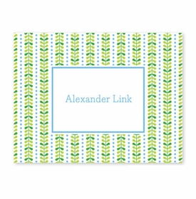 boatman geller bright vine green & blue foldover note cards