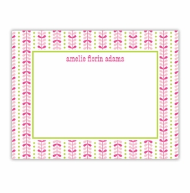 boatman geller bright vine pink & green small flat notecard