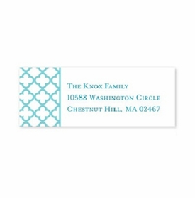 boatman geller bristol petite teal address labels