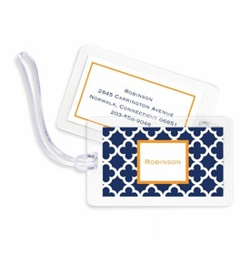 boatman geller bristol tile navy bag tags