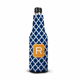 boatman geller bristol tile navy bottle koozie