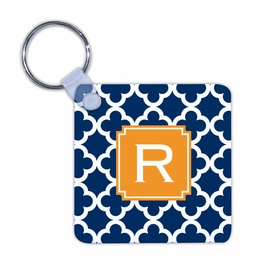 boatman geller bristol tile navy key chain