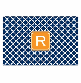 boatman geller bristol tile navy placemat