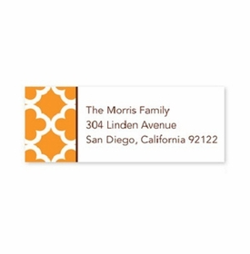 boatman geller bristol tile tangerine address labels