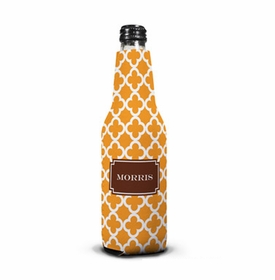 boatman geller bristol tile tangerine bottle koozie