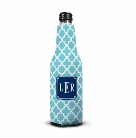 boatman geller bristol tile teal bottle koozie