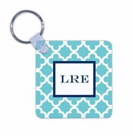 boatman geller bristol tile teal key chain