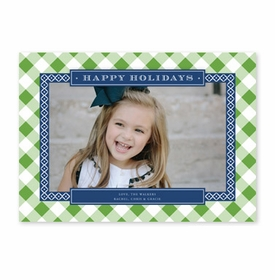 boatman geller buffalo check kelly green & navy photocard