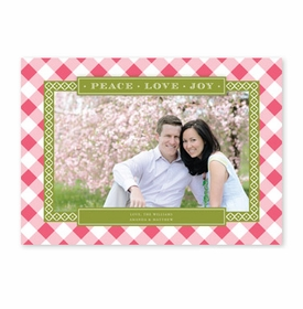 boatman geller buffalo check rose & olive photocard