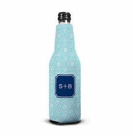 boatman geller bursts teal bottle koozie