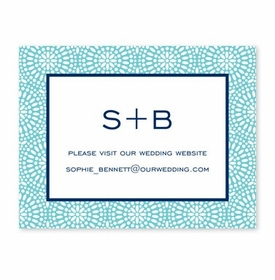 boatman geller bursts teal calling card