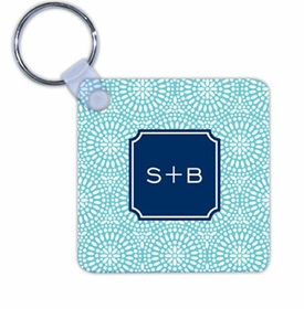 boatman geller bursts teal key chain