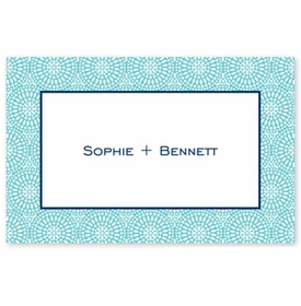 boatman geller bursts teal placemat