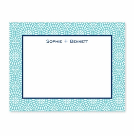 boatman geller bursts teal small flat notecard