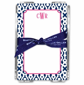 boatman geller cameron navy note sheets in acrylic note sheets