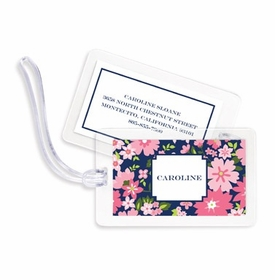 boatman geller caroline floral pink bag tags