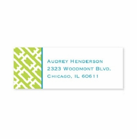boatman geller chain link lime address labels