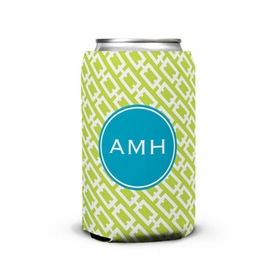 boatman geller chain link lime can koozie