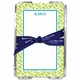 boatman geller chain link lime note sheets in acrylic note sheets
