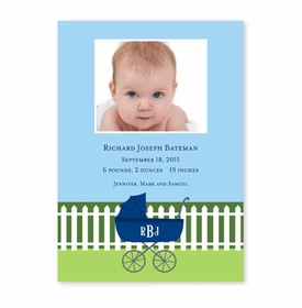 boatman geller charming pram navy photocard