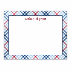 boatman geller check blue & red small flat