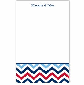 boatman geller chevron blue and red notepad