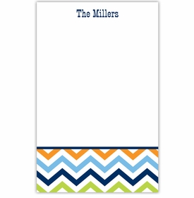 boatman geller chevron blue, orange and lime notepad