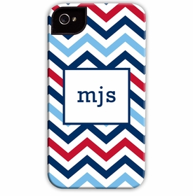 boatman geller chevron blue & red cell phone case