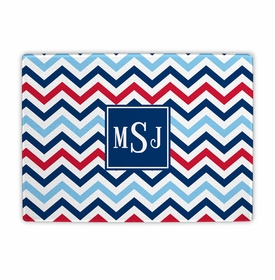 boatman geller chevron blue & red cutting board