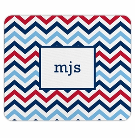 boatman geller chevron blue & red mouse pad