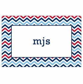 boatman geller chevron blue & red placemat