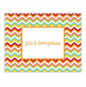 boatman geller chevron bright foldover note cards
