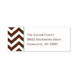 boatman geller chevron chocolate address labels