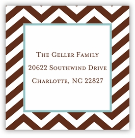 boatman geller chevron chocolate square sticker