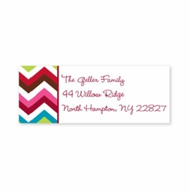 boatman geller chevron holiday address labels
