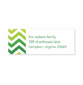 boatman geller chevron ombre green address labels