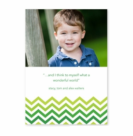 boatman geller chevron ombre green photocard