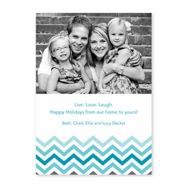 boatman geller chevron ombre teal photocard