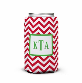 boatman geller chevron red can koozie