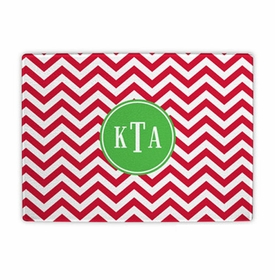 boatman geller chevron red cutting board