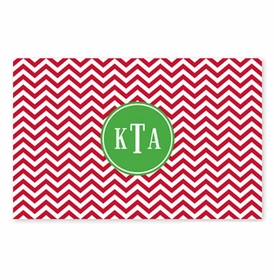 boatman geller chevron red disposable placemats