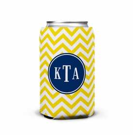 boatman geller chevron sunflower can koozie